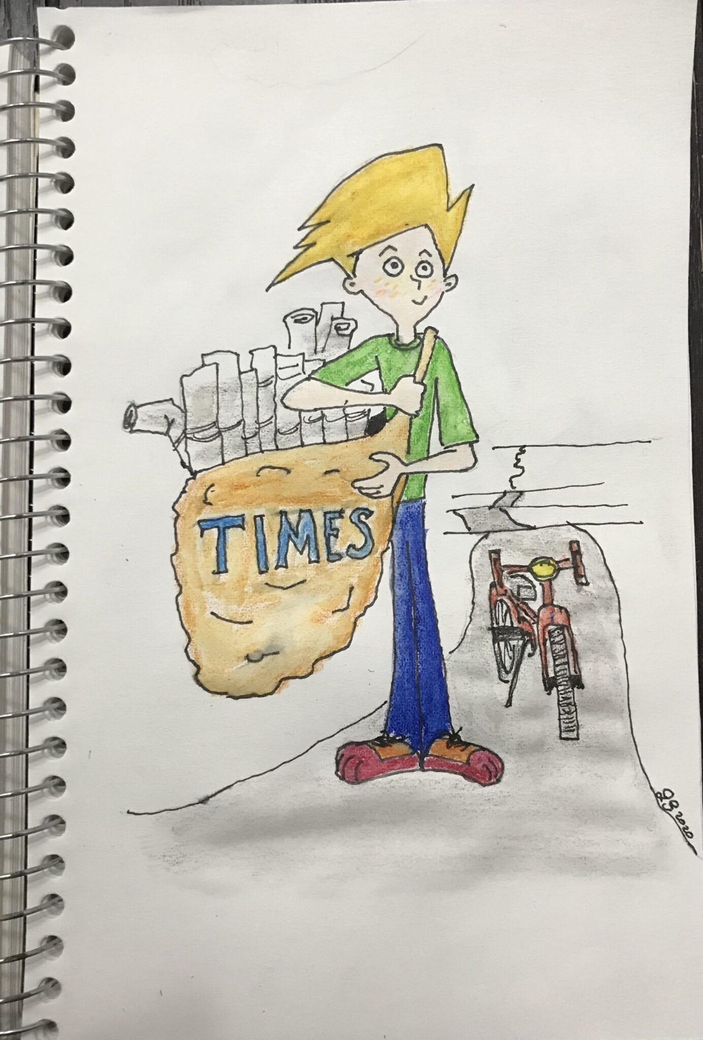 Paper Boy Cartoon